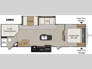Passport 29BH Elite Floorplan Image
