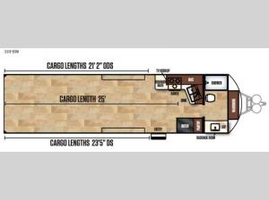 Work and Play FRP Series 30FBW Floorplan Image