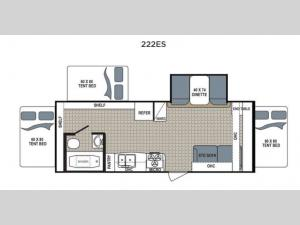 Kodiak Express 222ES Floorplan Image