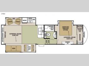Cedar Creek Silverback 29RE Floorplan Image