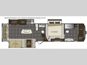 Alpine 3731FB Floorplan Image