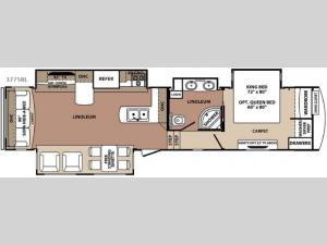 Blue Ridge 3775RL Floorplan Image