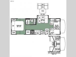 Forester 2651S Ford Floorplan Image