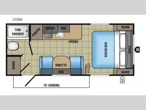 Jay Flight SLX 195RB Floorplan Image