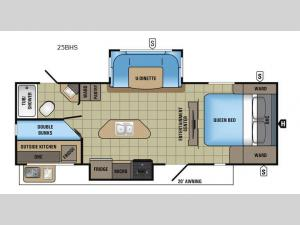 White Hawk 25BHS Floorplan Image