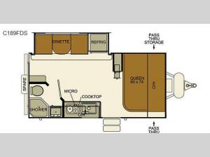 I-Go Cloud Series C189FDS Floorplan Image