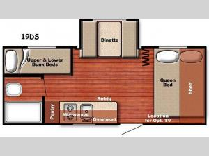 Kingsport Lite 19DS Floorplan Image