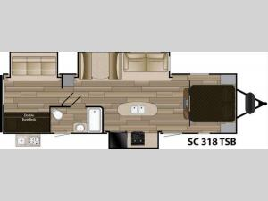 Shadow Cruiser S-318TSB Floorplan Image