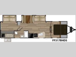 Fun Finder Signature Edition F-317BHDS Floorplan Image