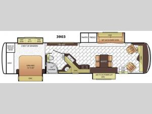 Canyon Star 3903 Floorplan Image