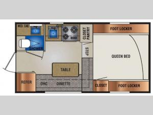 Truck Campers 840SBR Series Floorplan Image