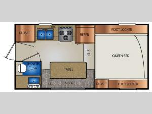 Truck Campers 960R Series Floorplan Image