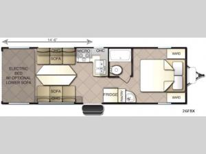 Powerlite Metal X 26FBX Floorplan Image