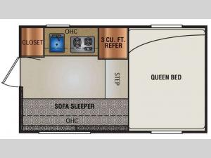 Truck Campers 700 Series Floorplan Image