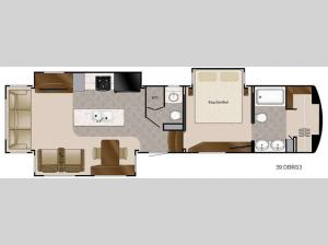 Travel Suites Limited Exploring Edition TS 39DBRS3 Floorplan Image