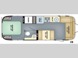 Flying Cloud 28 Floorplan Image