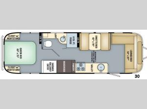Flying Cloud 30 Floorplan Image