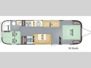 Flying Cloud 30 Bunk Floorplan Image