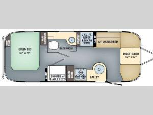 International Serenity 25 Floorplan Image