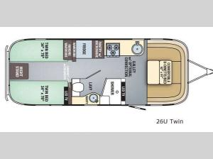 Flying Cloud 26U Twin Floorplan Image