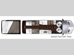 Interstate Grand Tour EXT Grand Tour EXT Twin Floorplan Image