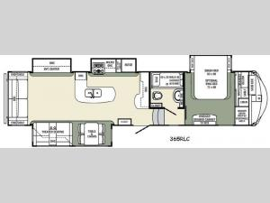 Columbus Compass 365RLC Floorplan Image
