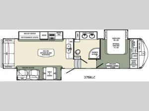 Columbus Compass 375RLC Floorplan Image
