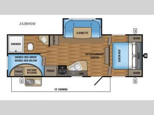 Jay Flight SLX 242BHSW Floorplan Image