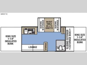 Clipper Camping Trailers 1285SST SS Floorplan Image
