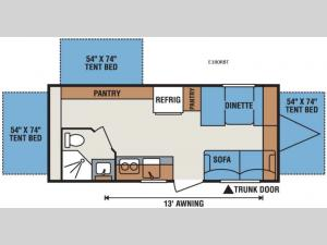 Spree Escape E180RBT Floorplan Image