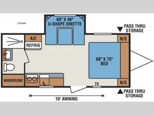Spree Escape E181RB Floorplan Image