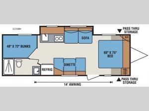 Spree Escape E231BH Floorplan Image