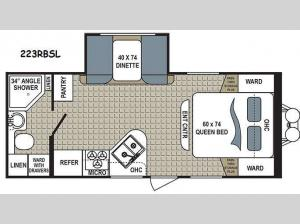 Kodiak Ultra Lite 223RBSL Floorplan Image