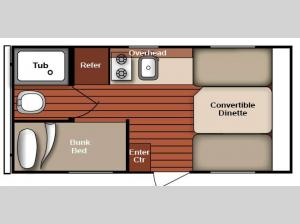 Serro Scotty 16BHR Floorplan Image