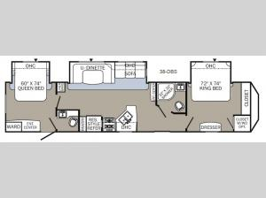 Puma Destination 38-DBS Floorplan Image