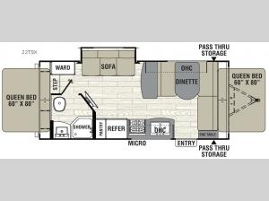 Freedom Express 22TSX Floorplan Image