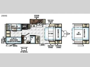 Rockwood Mini Lite 2505S Floorplan Image