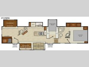 Chaparral 371MBRB Floorplan Image