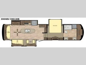Redwood 3901WB Floorplan Image