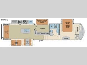 Columbus Compass 377MBC Floorplan Image