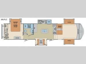 Columbus Compass 381FLC Floorplan Image