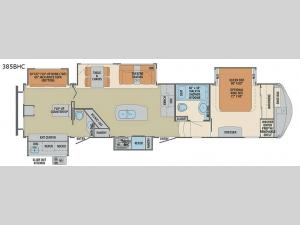 Columbus Compass 385BHC Floorplan Image