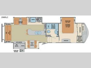 Columbus Compass 298RLC Floorplan Image