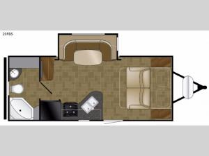 North Trail 20FBS Floorplan Image
