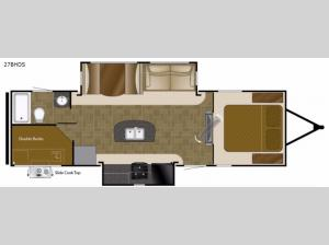 North Trail 27BHDS King Floorplan Image