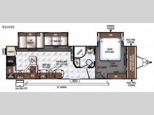Rockwood Signature Ultra Lite 8310SS Floorplan Image