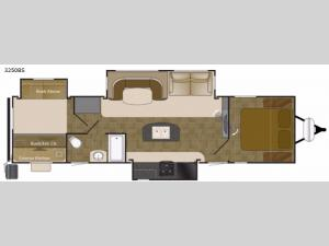 Wilderness 3250BS Floorplan Image