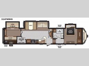 Sprinter 324FWBHS Floorplan Image
