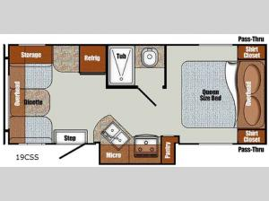 Vista Cruiser 19CSS Floorplan Image