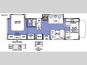 Sunseeker 2860DS Ford Floorplan Image